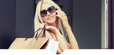 Woman wearing sunglasses shopping