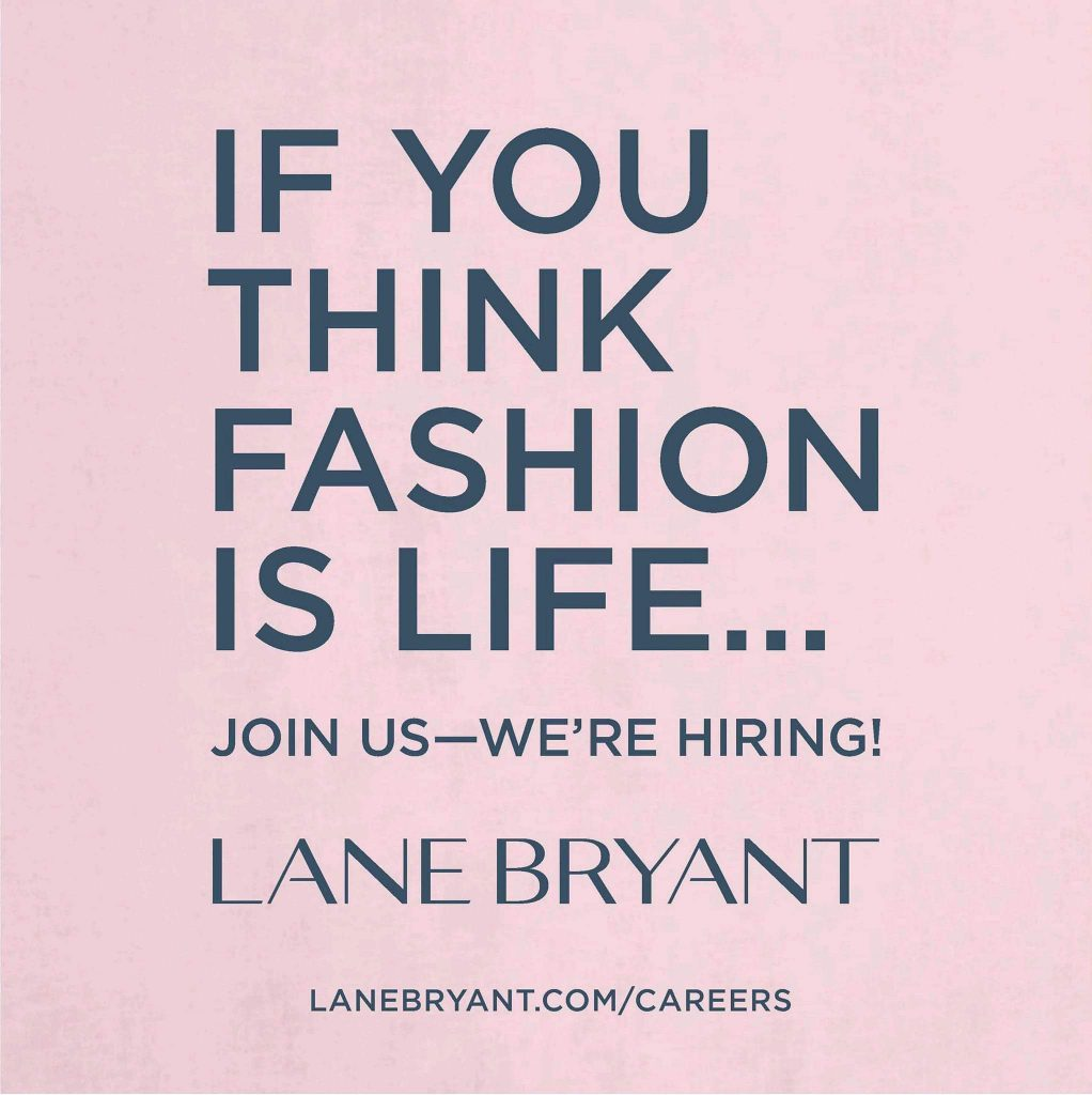 Lane Bryant job posting