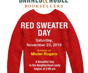 Barnes & Noble – Red Sweater Day