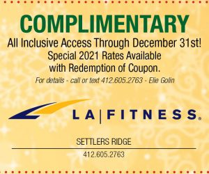 LA Fitness – Complimentary All Inclusive Access through December 31st