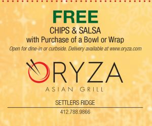 Oryza Asian Grill – FREE Chips & Salsa with Purchase of a Bowl or Wrap