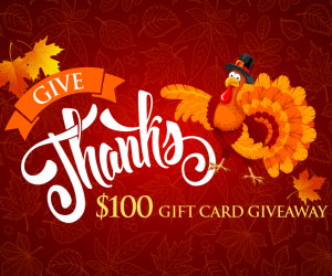 Give Thanks Gift Card Giveaway