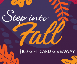 Step into Fall Gift Card Giveaway